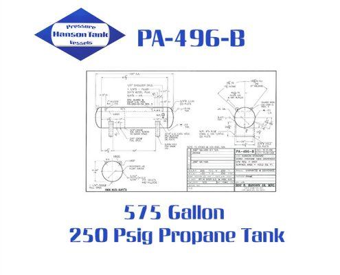 PA-496-B 575 Gallon Horizontal Propane Dispenser Tank