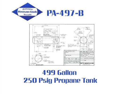 PA-497-B Horizontal Propane Dispenser Tanks