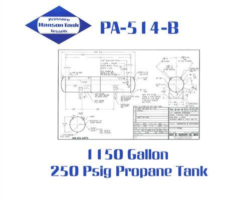 PA-514-B 1150 Gallon Propane Tank