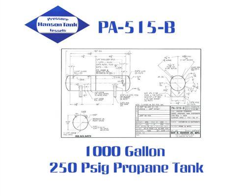 PA-515-B 1000 Gallon Propane Dispenser Tanks
