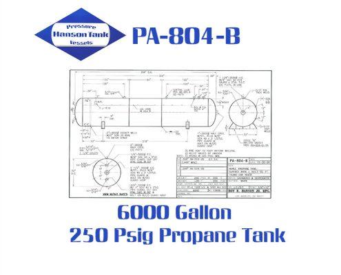 pa804b 6000 gallon horizontal propane tank