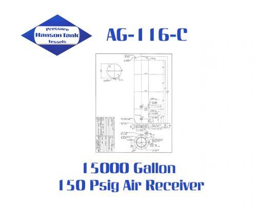 AG-116-C 15000 gallon air receiver