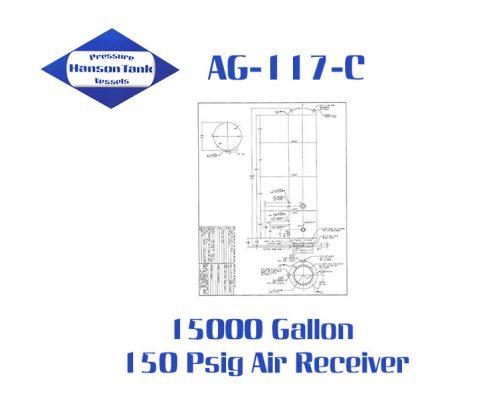 AG-117-C Vertical 15000 Gallon Air Receivers