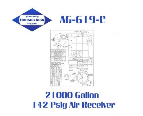 AG-619-C Vertical 21000 Gallon Air Receiver