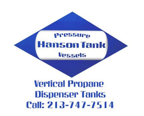 verical propane dispenser tanks