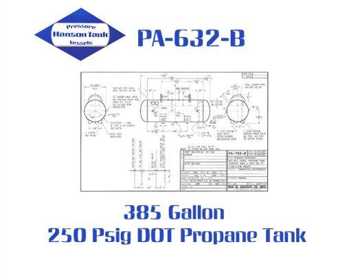 PA-632-B 385 Gallon DOT Tank