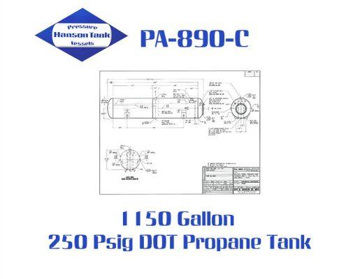 PA-890-C 1150 Gallon MC-331 Tank