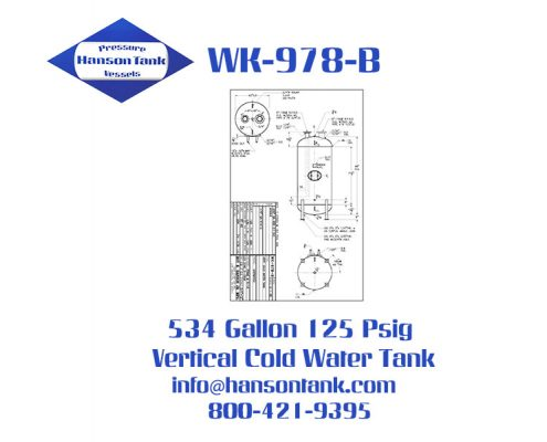 wk-978-b vertical cold water buffer tank