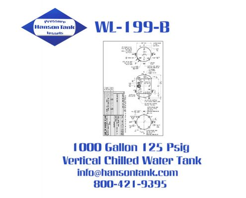 wl-199-b 1000 gallon vertical chilled water buffer tank