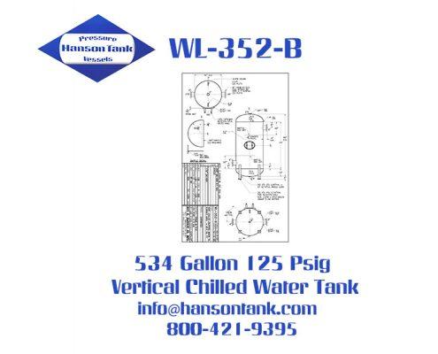 wl-352-b vertical chilled water buffer tank