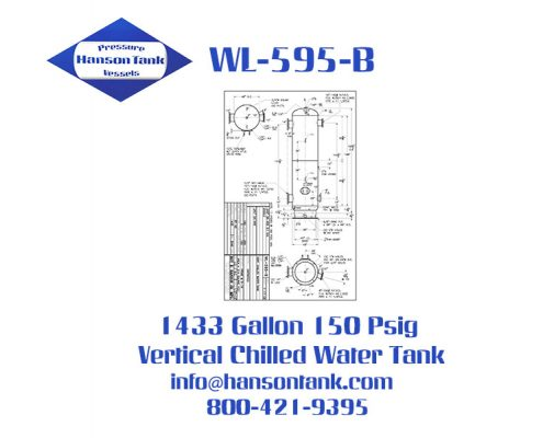 wl-595-b vertical chilled water tank