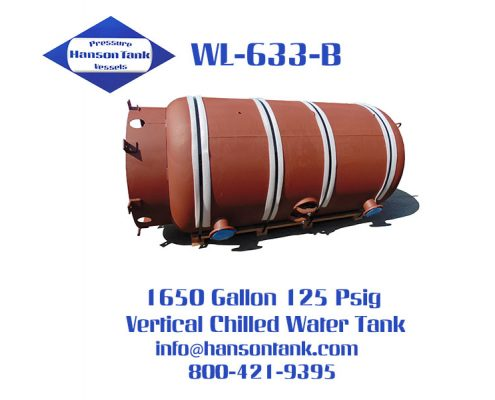 wl-633-b 1650 gallon vertical chilled water tank