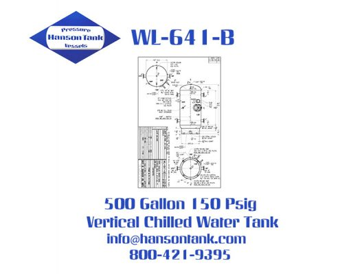 wl-641-b 500 gallon vertical chilled water tank