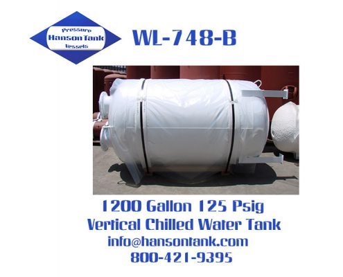 wl748b 1200 gallon vertical chilled water tank
