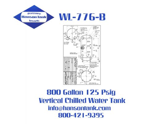 wl-776-b 800 gallon vertical chilled water tank