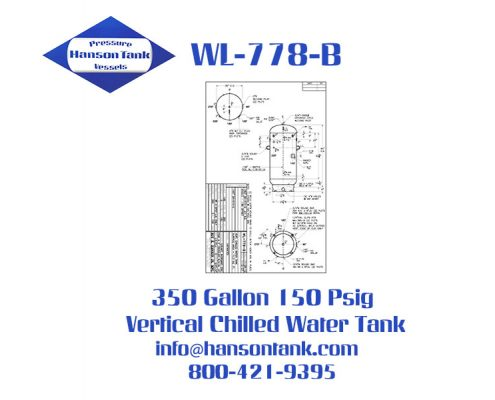 wl-778-b 350 gallon vertical chilled water tank