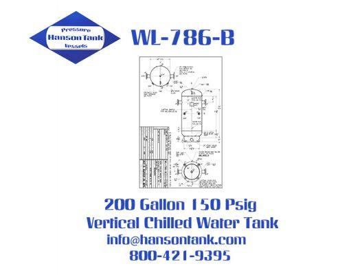 wl-786-b 200 gallon vertical chilled water buffer tank