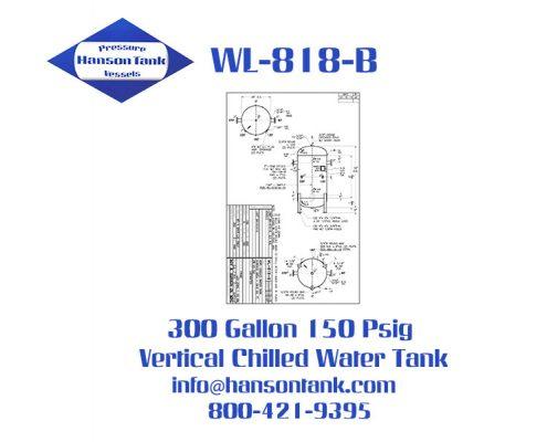 wl-818-b 300 gallon vertical chilled water buffer tank
