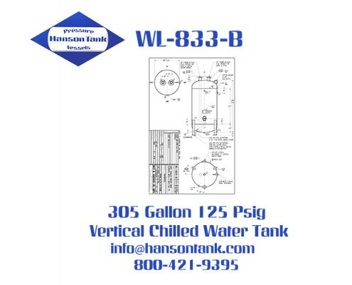 wl-833-b 305 gallon vertical chilled water tank