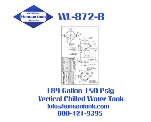 WL-872-B Vertical Chilled Water Buffer Tank