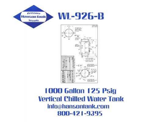 wl-926-b 1000 gallon vertical chilled water tank