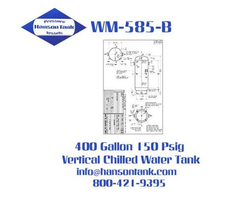 wm585b 400 gallon vertical chilled water tank