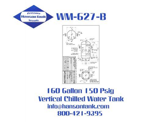 WM-627-B 160 Gallon Vertical Chilled Water Tank