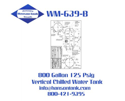 wm639b 800 gallon vertical chilled water tank