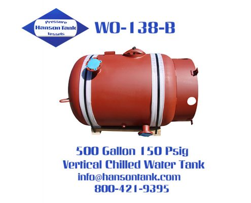 wo-138-b 500 gallon vertical chilled water tank