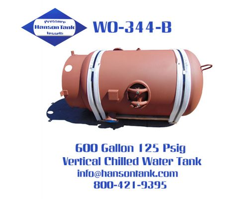 wo-344-b 600 gallon vertical chilled water buffer tank