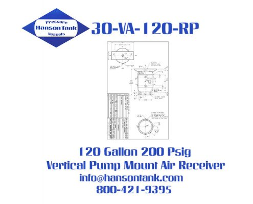 30-va-120-rp 120 Gallon Vertical Pump Mount Air Receiver