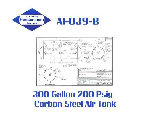 ai-039-b horizontal 300 gallon air tank