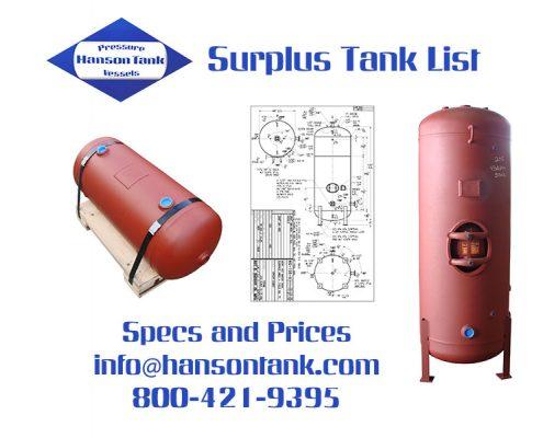 Hanson Surplus Tanks