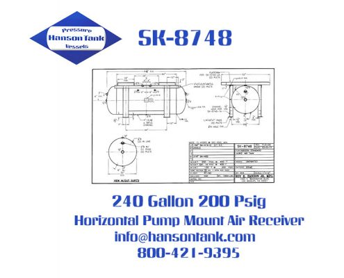 sk-8748 240 gallon pump mount air receiver