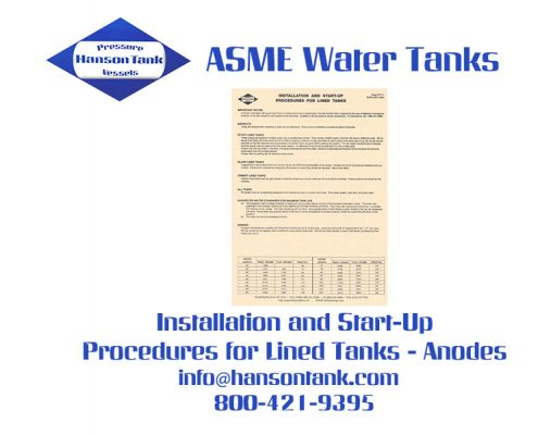Water Tank Price List 11 - Installation and Start-Up Procedures for Lined Tanks - Anodes