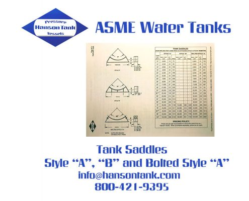 Water Tank Price List 7 - Tank Saddles