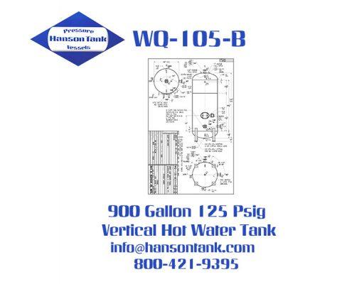WQ-105-B 900 Gallon Vertical Hot Water Tank