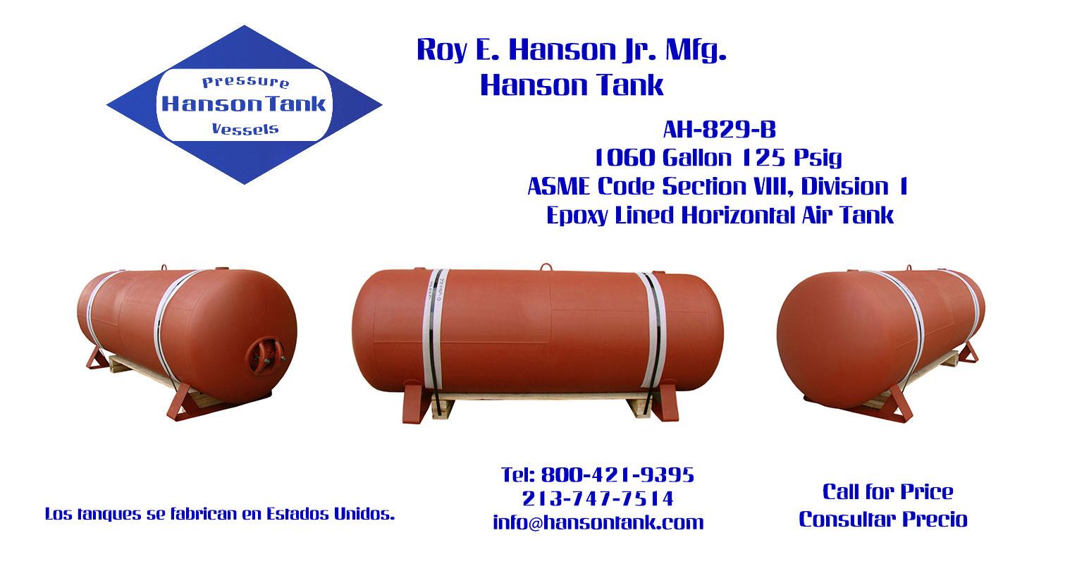 AH-829-B 1060 Gallon Horizontal Custom Tank