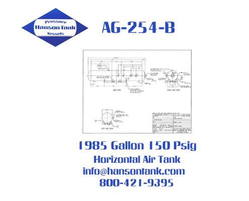 ag254c horizontal 1985 gallon air receiver