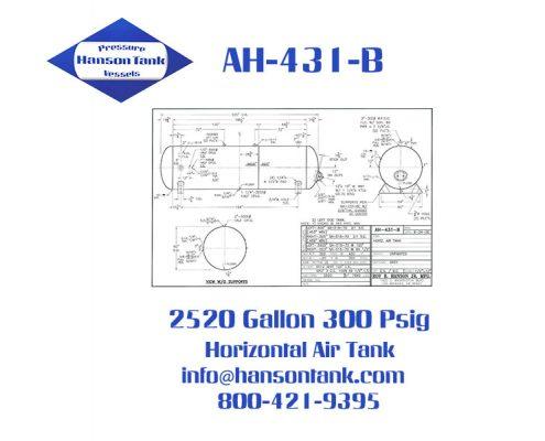 ah431b 300 psig air receiver