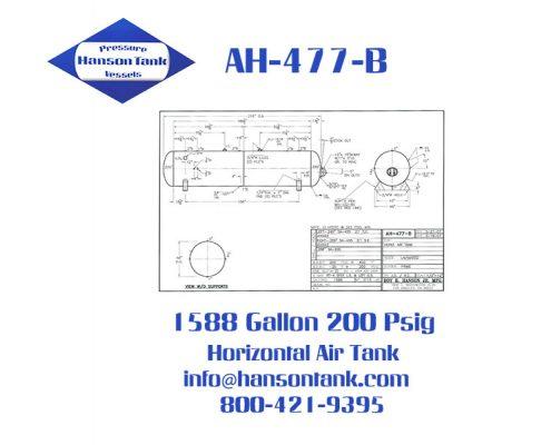ah477b 200 psig horizontal air receiver