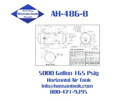 ah486b 5000 gallon horizontal air receiver