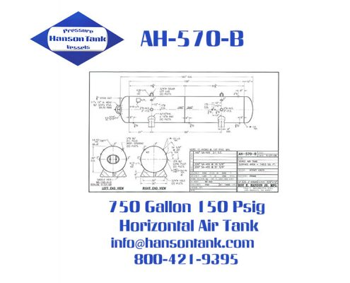 ah570b 750 gallon epoxy lined air receiver