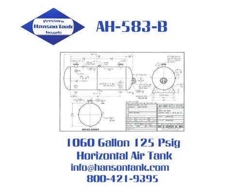 ah-583-b 1060 gallon horizontal air receiver