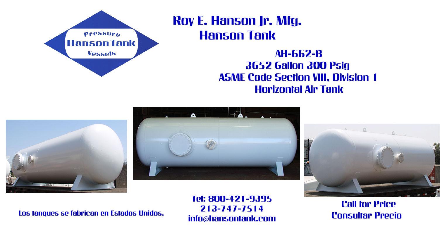 AH-662-B 3625 Gallon Horizontal Custom Tank