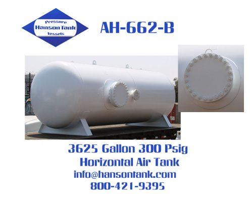 ah662b 300 psig horizontal breathing air tank