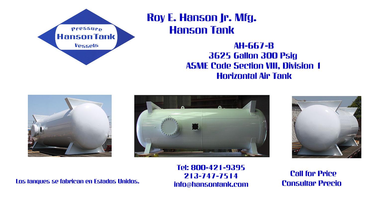 AH-667-B 3625 Gallon Horizontal Custom Tank