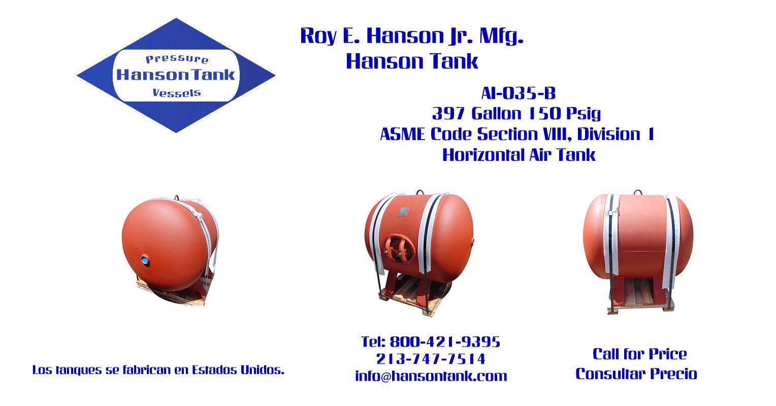 AI-035-B 397 Gallon Horizontal Custom Tank
