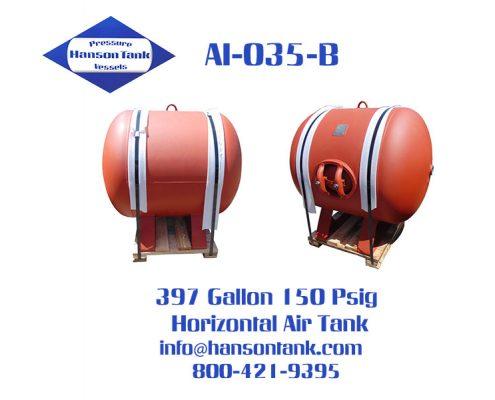 ai035b 400 gallon horizontal air tank
