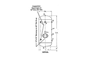Hanson Tank Generic Air Receiver Drawing